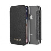 Apple GUESS PU Leather & Transparent Booktype Black For Apple iPhone X/Xs