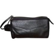 Style 98 Premium Leather Hand bag for Men & Women Waist Pouch(Black)