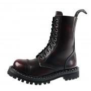 bottes en cuir unisexe - STEADY´S - STE/10_bordo/black