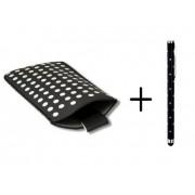 Polka Dot Hoesje voor Huawei Ascend G525 met gratis Polka Dot Stylus, Zwart, merk i12Cover