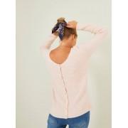 VERTBAUDET Camisola reversível, frente/trás, especial gravidez e amamentação rosa claro liso