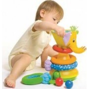 Jucarie bebelusi Tiny Love Musical Stack and Ball Game Elephant