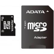 Card A-DATA microSDHC 8GB (Class 4) + Adaptor SD