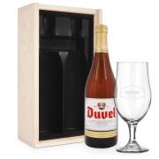 YourSurprise Coffret à bière Duvel Moortgat avec verre gravé