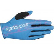 Alpinestars Stella F-Lite Luvas de bicicleta de senhoras Azul XL