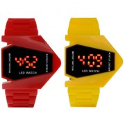 Rocket LED Red And Yellow Color Combo Of 2 Watches