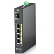 ZyXEL RGS100-12P, 5 Port unmanaged PoE Switch, 120 Watt PoE, DIN Rail, IP30, 12-58V DC