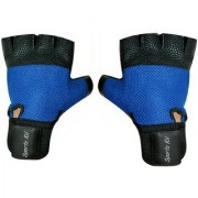 CP Bigbasket Netted Wrist Support Gym Fitness Gloves (Blue)