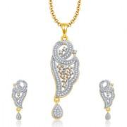 Sukkhi Sarene Gold And Rhodium Plated CZ Pendant Set For Women