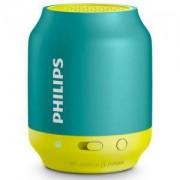 Philips Bluetooth безжична портативна колонка, акумулаторна батерия 2 W, цвят: син/зелен/BT50A