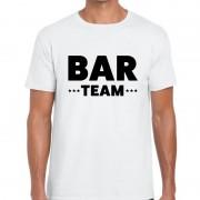 Bellatio Decorations Bar team / personeel tekst t-shirt wit heren S - Feestshirts
