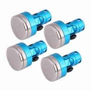 Generic 4pcs Shell Column Stealth Body Shell Metal Stand Mount Strong Magnet Stealth Body Post for 1/10 RC Car HSP 94123 94122 Car Blue