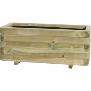 Jardinera Toscana, lemn, 90x40x35 cm, verde