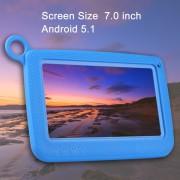Tablette d enseignement pour enfants Astar, 7.0 pouces, 512 Mo + 4 Go, Android 4.4 Allwinner A33 Quad Core, avec étui en silicone (bleu)