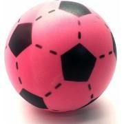Set van 3 foam softbal voetballen roze 20 cm - Zachte speelgoed voetbal
