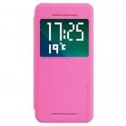 Capa com Cobertura Nillkin Sparkle Series Smart View para HTC Desire Eye - Rosa Choque