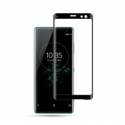 MOCOLO 3D Curved Arc Edge Full Coverage Tempered Glass Screen Protector for Sony Xperia XZ3 - Black
