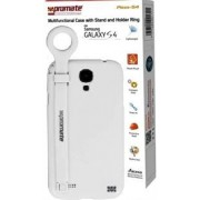 Promate Pless-S4 Multifunctional Case with a Stand and a Holder Ring for Samsung Galaxy S4-White Retail Box 1 Year Warranty