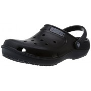 Crocs Unisex Duet Wave Clog Black and Charcoal Rubber Clogs and Mules - M6W8