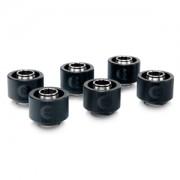 Pachet 6 bucati fitinguri compresie EK Water Blocks EK-ACF 16/10mm Black