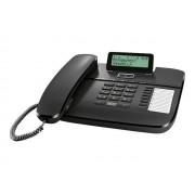 Gigaset DA710 - Téléphone filaire avec ID d'appelant - noir