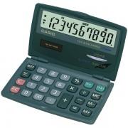Calcolatrice tascabile Casio SL-210TE - 087676 Calcolatrice a 10 cifre di dimensioni 120 X 141 X 12,5 mm dal peso di 75,5 gr con alimentazione solare/batteria di colore grigio in confezione da 1 Pz.