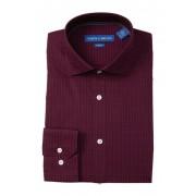 Vince Camuto Micro Print Slim Fit Dress Shirt DARK RED PRINT