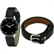 Crude Smart Combo Of Analog Watch-rg610 With Leather Belt for Women's Girl's