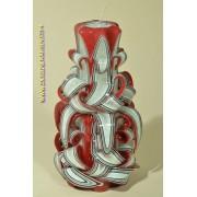 Designkaarsen com Kaars, handgesneden, 22 cm (zeer exclusief) 50504 - kaarsen