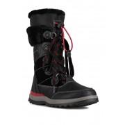 Aquatherm by Santana Canada Kirima Faux Fur Lined Waterproof Tall Boot BLACK RED PU