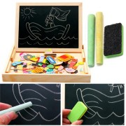 Kids Educational Learning Wooden Magnetic Drawing Board Jigsaw Puzzle Toys