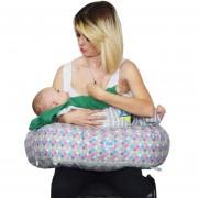 Almohada Herradura Grande Lactancia Mami Ama Bebé-Gris Confeti