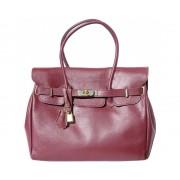 Vínová kožená kabelka do ruky Saffiano Florence