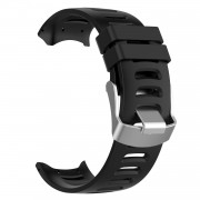 Silicone Watch Strap Replacement Wristband for Garmin Forerunner 610 - Black