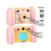 Kinder-Full-HD-Digitalkamera, 2. Objektiv für Selfies & 2 Sucher, rosa | Kinderkamera