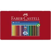 Creioane colorate 36 culori Grip 2001 cutie metal Faber-Castell