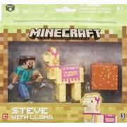 Set Figurine Minecraft Steve With Llama