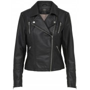 Only Onlgemma Faux Leather Biker Otw - zwart - Size: 38
