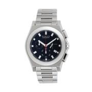 【57%OFF】ラウンド クロノグラフ デイト ウォッチ メンズ フェイス:ブラック ベルト:シルバー ファッション > 腕時計~~メンズ 腕時計