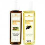 Park Daniel Premium Moringa oil and Grapeseed oil combo of 2 bottles of 100 ml (200ml)