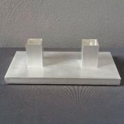 aluminium tafelkaarsen standaard dubbel
