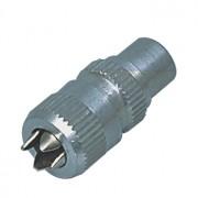 Coax plug, aluminium, schroefversie