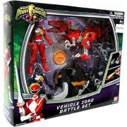 Power Rangers Mighty Morphin Vehicle Zord Battle Set 2Pack Black Red Ranger