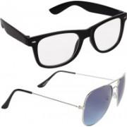 Criba Wayfarer Sunglasses(Clear, Blue)