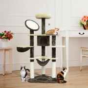 PawHut ® Rascador Gato Arbol Poste para Arañar Centro Actividades Altura 153x65x50cm