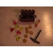 Lego Pirate Treasure Chest with Treasure Custom Minifigure Accessory