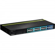 SWITCH, TRENDnet TPE-224WS, 24-Port 10/100 Mbps Web Smart PoE+