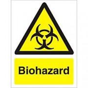 Unbranded Warning Sign Biohazard Plastic 40 x 30 cm