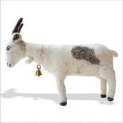 De Kulture Works Hand Made Showpiece Felt Goat Soft plush Toy 3x8x4 (LWH) For Kids / Home Decoration / Party Decorative / Office Dcor Ideal For Valentine Gift Ideas Easter Decorations (Multicolour)