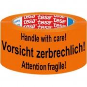 Tesa 2x Tesa waarschuwingstape oranje 5,5cm x 66m - Tape (klussen)